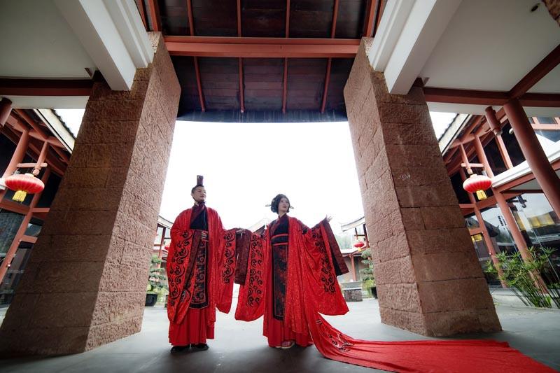 【漢式婚禮服裝】鳳凰于飛一男一女套裝