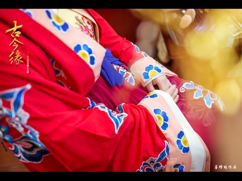 【唐制漢婚婚服】高質感雪紡紗薄款襦裙婚服女